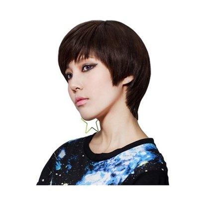 整頂 假髮 真髮絲-短直髮逼真時尚優質女假髮2色73vc12[獨家進口][米蘭精品]