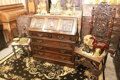 【家與收藏】特價稀有珍藏歐洲百年古董法...