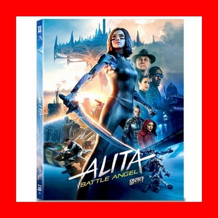 【BD藍光3D】艾莉塔:戰鬥天使3D+2D雙碟限量外紙套鐵盒版A3款(台灣繁中字幕)Alita