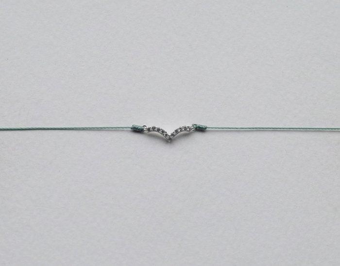 [Le Bonheur Line] 幸福線 手工/925純銀 海鷗 微笑 水鑽 /手鍊 redline 飾品 精緻 超小