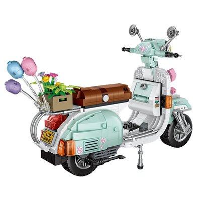 玩具小孩禮物俐智(Loz)積木 小顆粒拼裝玩具摩托車模型 摩托迷你MINI COOPER 兒童節禮物玩具積木 1117/小綿羊673PCS