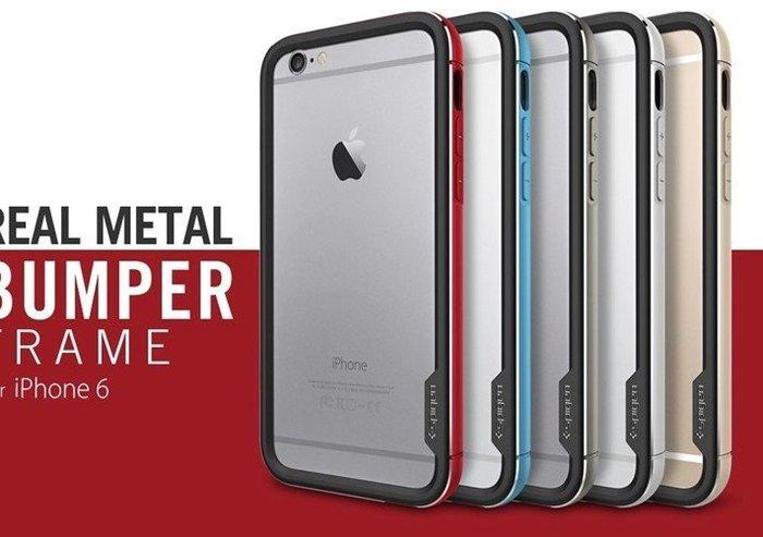 光華商場*包你個頭 Apple iphone 6 iphone6 4.7吋 金屬邊框 鋁框 雙層  SGP正品剩藍  銀 出清價格