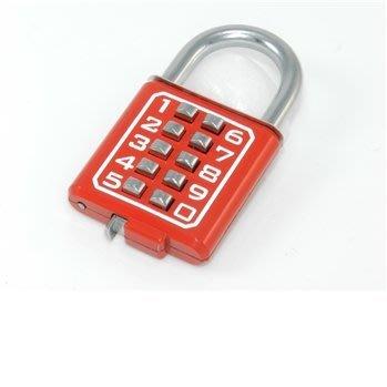 【台北鎖王】GHL 40mm 10位數按鍵式掛鎖 密碼鎖 號碼鎖