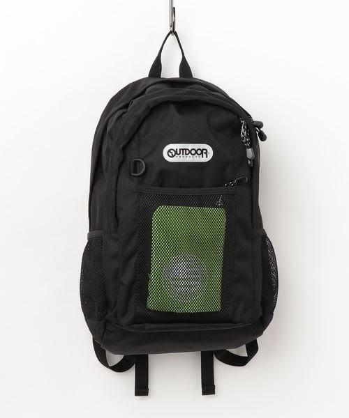 【Mr.Japan】日本限定 outdoor 手提 後背包 書包 大容量 通勤 a4 水壺袋 黑x綠 預購款