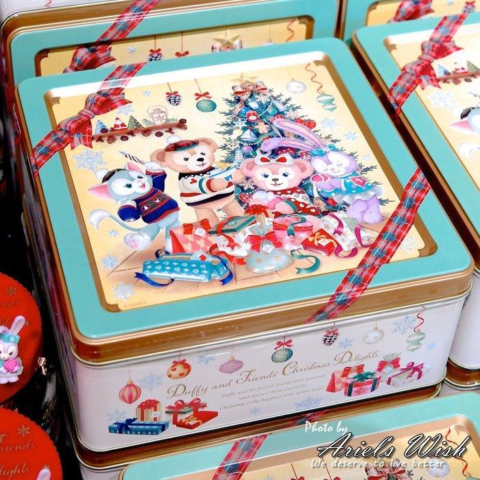 ArielWish日本東京迪士尼聖誕節達菲熊Duffy雪莉玫傑拉東尼Stella史黛拉兔兔四方鐵盒餅乾禮盒玩具收納盒現貨