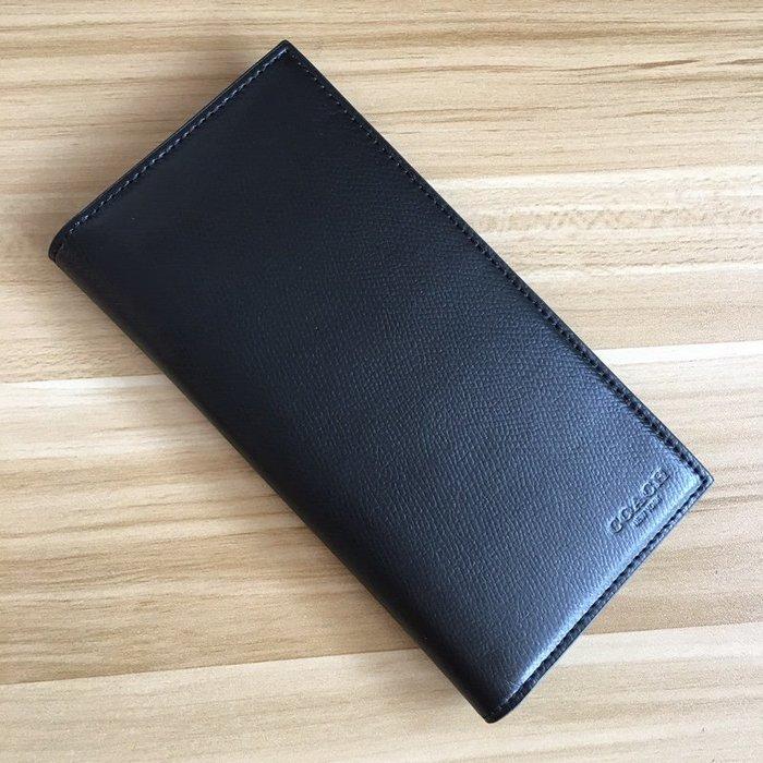 【小怡代購】 全新COACH 74978 美國正品代購新款男士顆粒紋牛皮對折長款西裝夾 錢夾 多卡位 特惠現貨