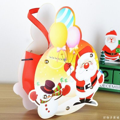 好物多商城 彩繪蘋果袋圣誕節裝飾配件節日辦公室商場酒店ktv布置用品