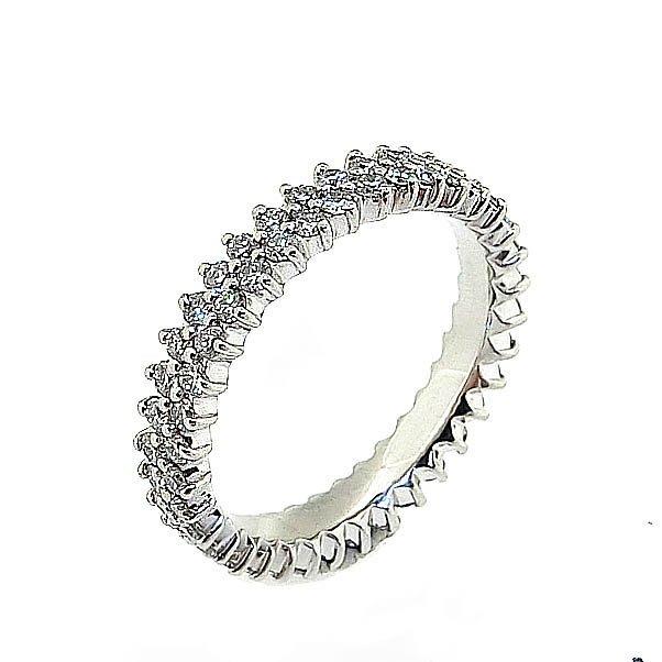 【JHT 金宏總珠寶/GIA鑽石專賣】0.71ct天然鑽石線戒/材質:PT900(JB42-A06)