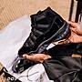 Tu.DOS NIKE AIR JORDAN 11 AJ11 CAP AND GOWN黑魂 378037-005男鞋