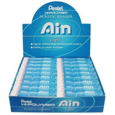 Pentel 飛龍牌 橡皮擦 ZETL07 (水藍)/一盒36個入(定15) 易拭型塑膠擦 環保塑膠擦 易拭型橡皮擦