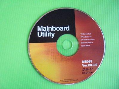 《啄木鳥小舖》<DRIVER~CD>聯強MBD-CA64-TC/TN主機板驅動光碟(MB089)[適用Win 98]