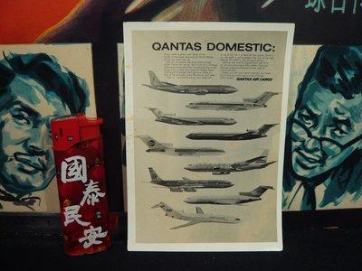 鄉親@文化~~早期~QANTAS DOMESTIC 黑白照片~少有飛機照~az~67~