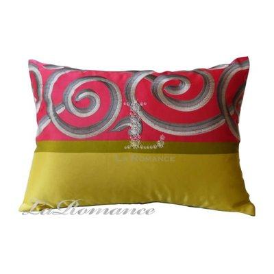 【La Romance 芮洛蔓】雙色腰枕 - 粉配紫 / 靠枕 / 靠墊