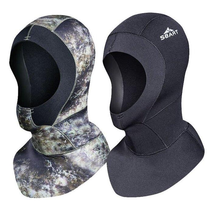 【購物百分百】鯊巴特3mm防水母潛水頭套 加厚遊泳帽 保暖專業防寒面罩 深潛潛水泳帽