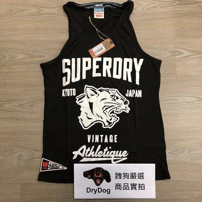 極度乾燥 Superdry Panthers Vest 黑豹系列 復古裂紋圖騰 運動 透氣 網眼 純棉 背心 黑特價現貨