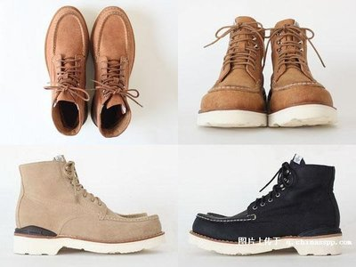VISVIM VIRGIL MOC TOE FOLK us9 boots grizzly redwing grizzly