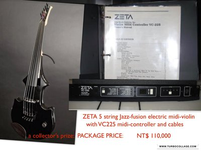 Zeta 5 string Midi Electric Violin