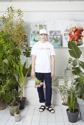 ☆AirRoom☆【現貨】2016aw WHITE BLANK Flowers S/S Tee 字體 logo 彩色 白
