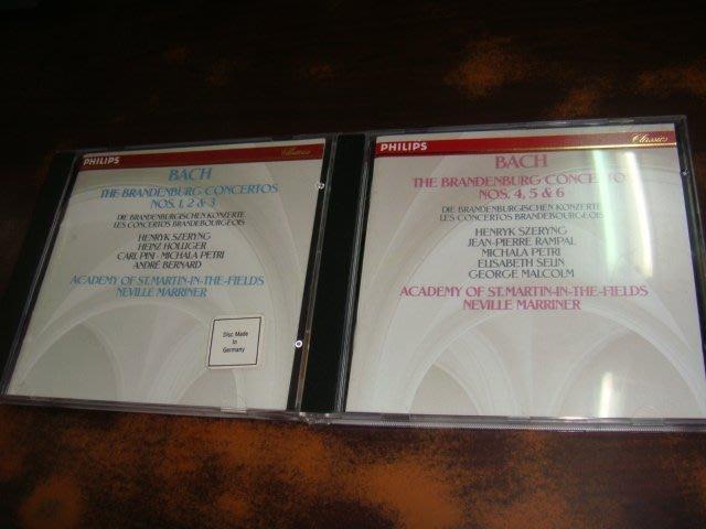 好音悅 半銀圈 Szeryng Marriner Bach 巴赫 布蘭登堡協奏曲 2CD Philips 德PMDC版