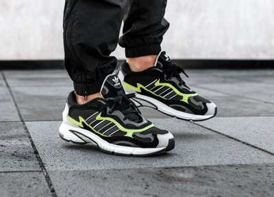 【Cool Shop】ADIDAS TEMPER RUN F97209 黑綠 休閒慢跑鞋 老爹鞋 F97209