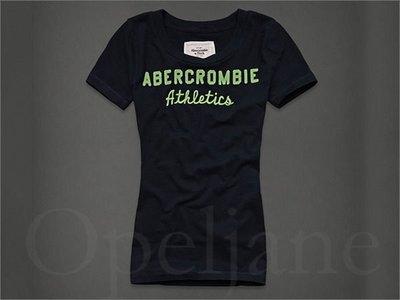 AF Abercrombie & Fitch A&F 麋鹿海軍藍貼圖貼字短袖T恤上衣 XS號 免運費 愛Coach包包