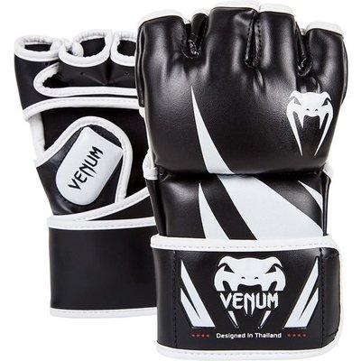 [古川小夫]UFC VENUM搏擊MMA挑戰者號∼康貝入門初級手套∼健身房 露指拳套-黑白 L size