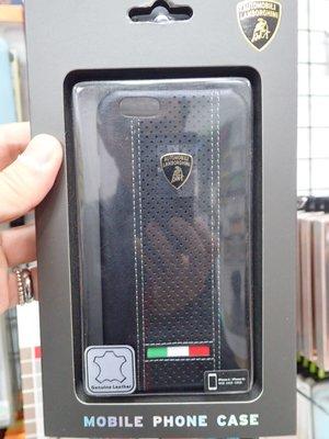貳 藍寶堅尼 Apple Iphone 6 i6 6S 4.7吋 真皮保護殼 背蓋 小6 藍堅D2背 黑色