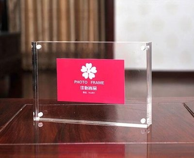 壓克力水晶相框擺臺56781012寸A4雙面玻璃磁鐵透明畫證書獎狀框