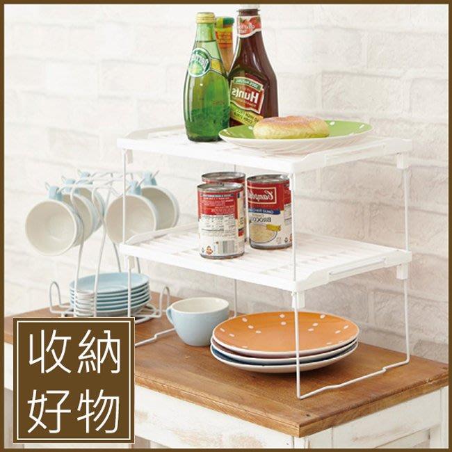 廚房 臥房 架子【家具先生】可疊式萬用收納架1入BCF34 收納架 置物架 廚房架 架子