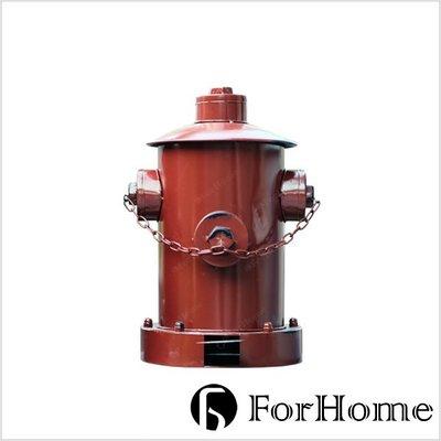 [ ForHome ] CD-0220 工業風 fire hydrant 老式消防栓 踩式垃圾桶 復古收納桶 紅色小款
