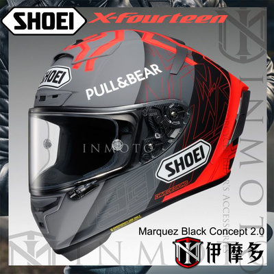 伊摩多※下標刷卡用‧公司貨SHOEI X-14 Marquez Black Concept2 MM93X-Spirit