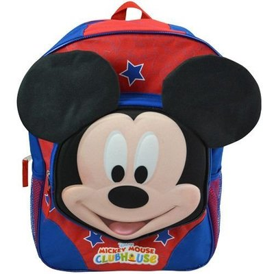 """MICKEY 16"""" BACKPACK WITH MOLDED FACE 米奇立體笑臉後背包 16吋"""