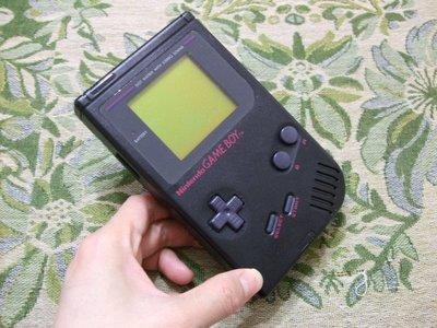 【懷舊電玩食堂】《正日本原版》【初代GAME BOY主機】實體拍攝  GAME BOY 初代機 稀有黑色  功能正常