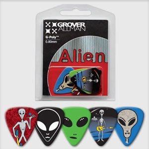 ☆ 唐尼樂器︵☆澳洲製 Grover Allman 主題系列『Alien』烏克麗麗/木吉他/電吉他 Pick 彈片