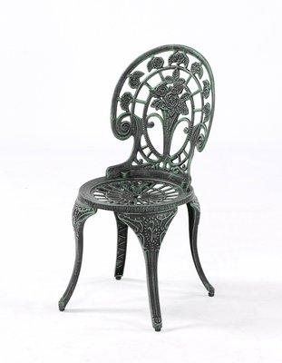 【南洋風休閒傢俱】戶外休閒桌椅系列-玫瑰扶手餐椅 戶外鋁合金餐椅  適民宿 餐廳 (#030C)