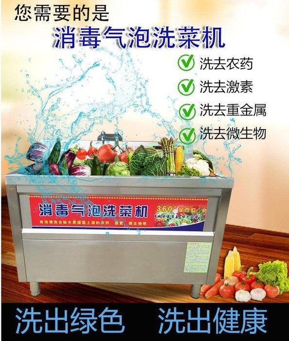 果蔬解毒全自動洗菜機臭氧氣泡洗菜機