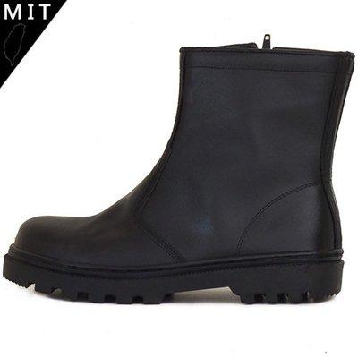 男款 MIT真皮側邊拉鍊寬楦鋼頭 耐磨止滑側邊縫線 安全鞋 工作靴 Ovan