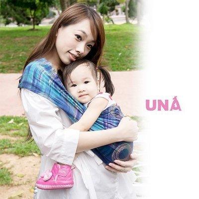 Una背巾 (哺乳揹巾) 背帶 推車 哺乳衣 巾最佳支援~嬰兒背巾 ☆╮精選彈性系列~時光流影-藍╭☆台灣製好品質