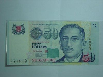 新加坡(Singapore), 50元, 1999年, 全新UNC, 稀少紙鈔!!!