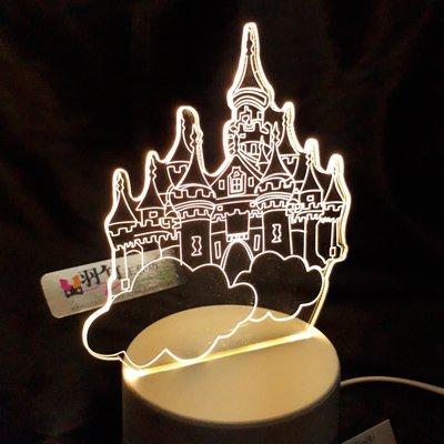 現貨 LED小夜燈 三光源-城堡