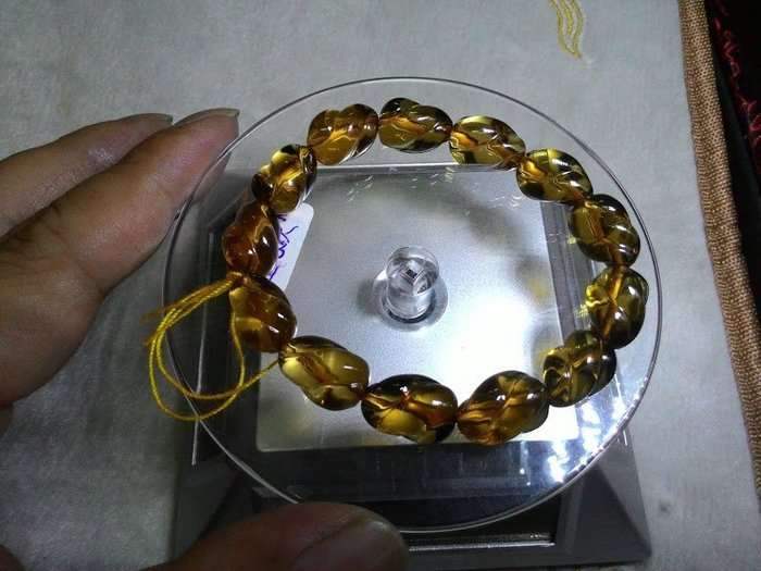天然巴西黃水晶手珠鍊飾品(寶袋造型)【東大開運館】