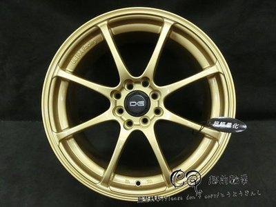 【超前輪業】編號(138) DG RS 輕量化 14吋鋁圈 4孔100 / 4孔114.3 金色 特價 1700