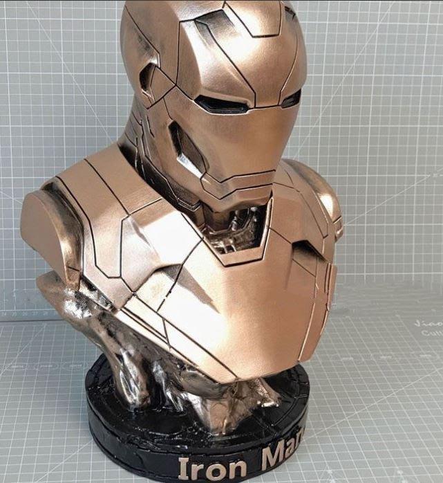 ART。DECO  鋼鐵人模型擺件 漫威英雄模型裝飾品 MARK46模型