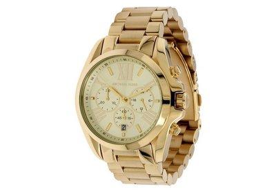 【紐約精品舖】MK5605 開張特賣新款時尚羅馬金色三眼手錶 MK女錶 美國Outlet代購100%正品 現貨附購買證明
