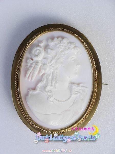 ((天堂鳥)) 維多利亞時代手工貝雕胸針|特價回饋發燒新品