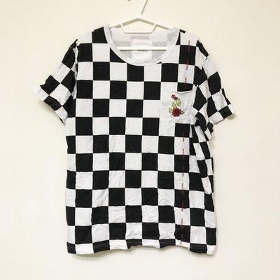 【GT】二手 Profound Aesthetic 黑白 短袖T恤 格紋 短T 格紋T