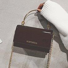 XINXIN女包手提小包包女韓版 時尚新款 日韓系列 迷人包 女生包新款秋季女包鏈條斜挎單肩包復古漆皮小方包