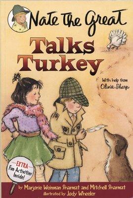 *小貝比的家*NATE THE GREAT TALKS TURKEY/平裝+CD/7-12歲