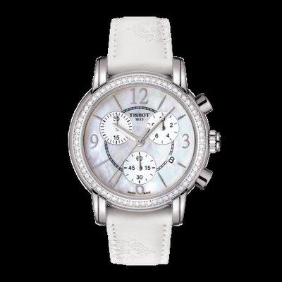 Tissot 天梭韻弛系列皮帶石英女腕錶 T0502176711700