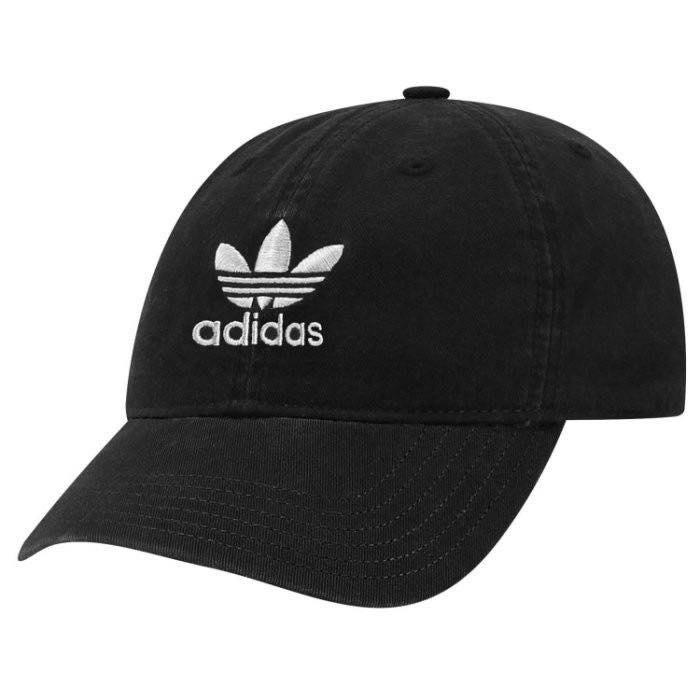 ☆AirRoom☆【現貨】Adidas Relaxed Strap-Back Hat 黑色 水洗 老帽 BH7137